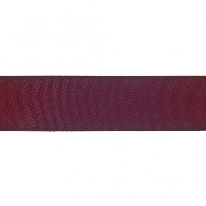 22mm Double Satin Ribbon - Raisin - 5m