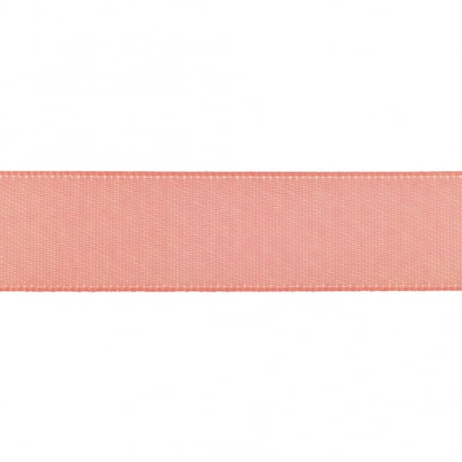 22mm Double Satin Ribbon - Rose Pink - 5m