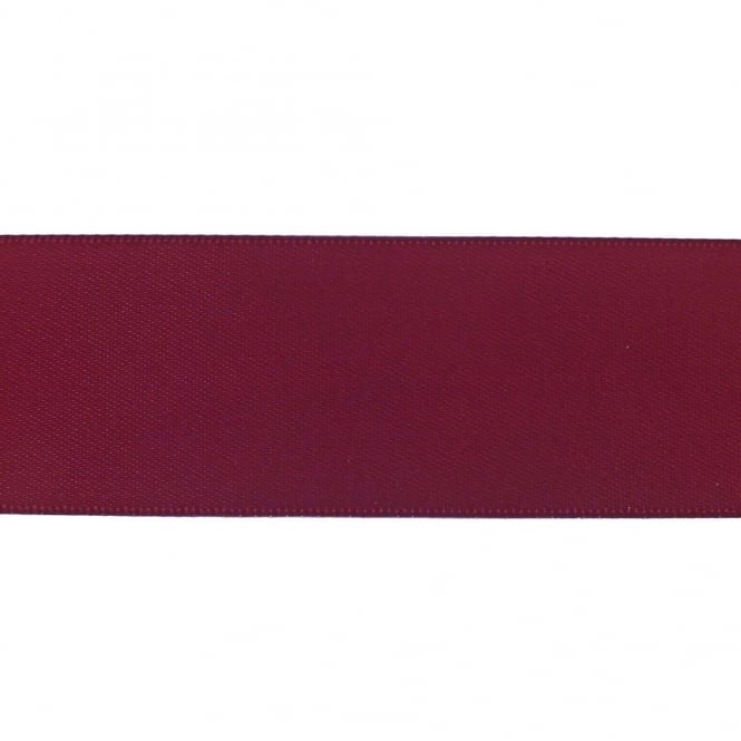 22mm Double Satin Ribbon - Wine - 5m