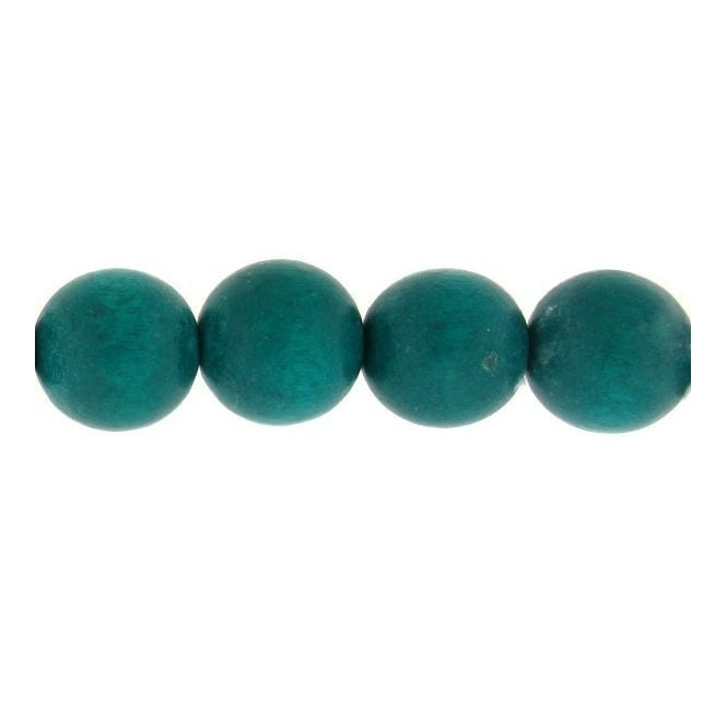 22mm Philippine Wood Round Beads - Light Teal - 20pk