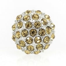 23mm Diamante Cluster Button - Gold - 1pk