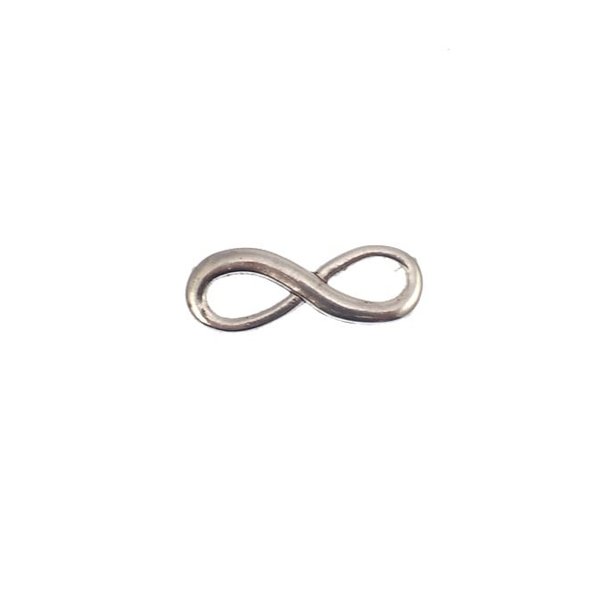 23mm Infinity Charm - Silver Plated - 10pk
