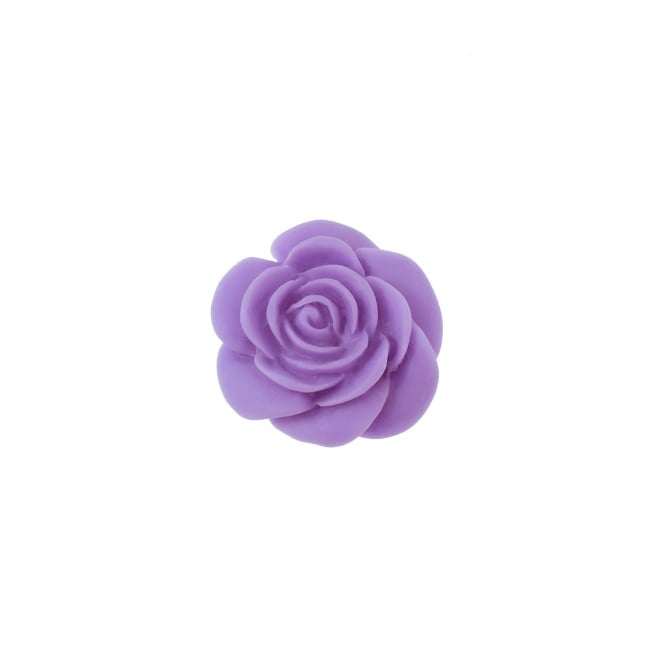 23mm Resin Flat Back Rose - Violet - 5pk