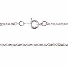 "24"" Trace Chain Necklace - Silver Plated - 1pk"