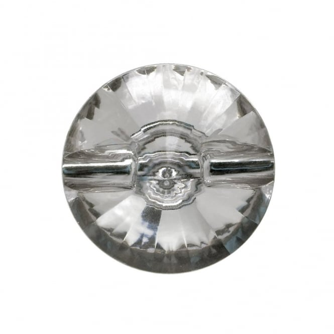 25mm Acrylic Diamante Button - Crystal - 2pk