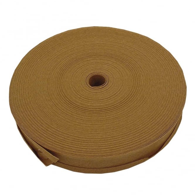 25mm Bias Binding Tape 100% Cotton - Beige - 1 metre