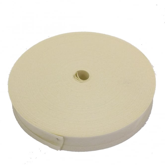 25mm Bias Binding Tape 100% Cotton - Cream - 1 metre