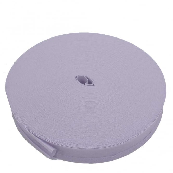 25mm Bias Binding Tape 100% Cotton - Pale Lilac - 1m, 5m or 50m