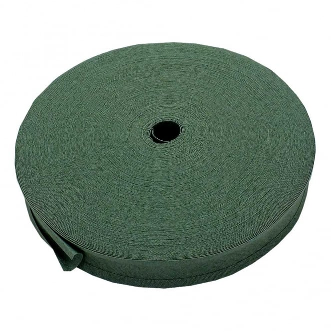 25mm Bias Binding Tape 100% Cotton - Plate Green - 1 metre