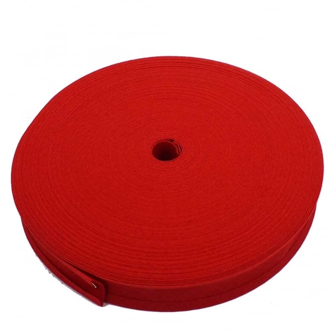 25mm Bias Binding Tape 100% Cotton - Scarlet - 1 metre