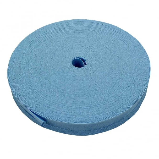 25mm Bias Binding Tape 100% Cotton - Sky Blue - 1m, 5m or 50m