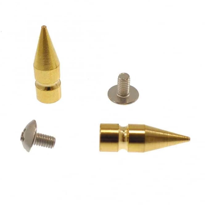 25mm Metal Tree Cone Screw Studs - Gold - 2pk