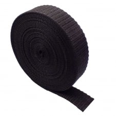 25mm Polypropylene Webbing Strap - Brown - 1 metre