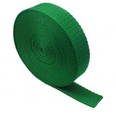 25mm Polypropylene Webbing Strap - Emerald Green - 1 metre