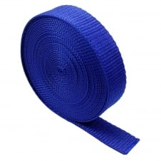 25mm Polypropylene Webbing Strap - Royal - 1 metre