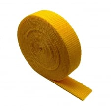 25mm Polypropylene Webbing Strap - Yellow - 1 metre