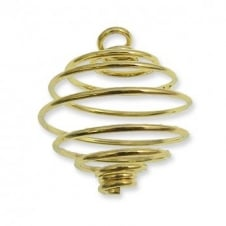 25mm Spiral Pendant - Gold Plated