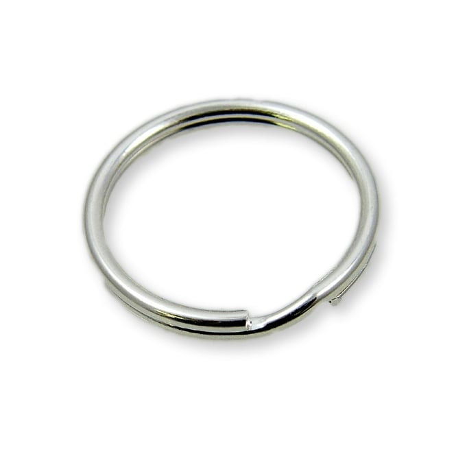 25mm Steel Double Loop Split Ring - Nickel Plate - 50pk