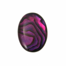25x18mm Abalone Red Flat Shell Cabochon - 1pc