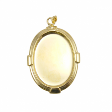 25x18mm Pendant Cameo Mount - Gold Plated