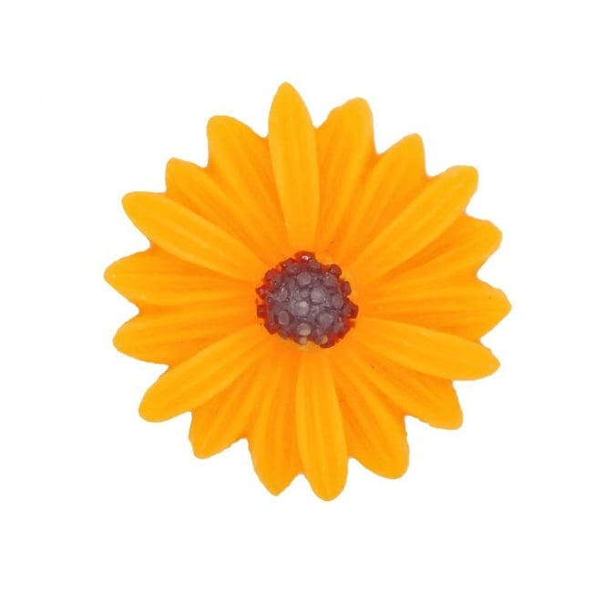 26mm Sunflower Resin Cabochon - Gold - 5pk