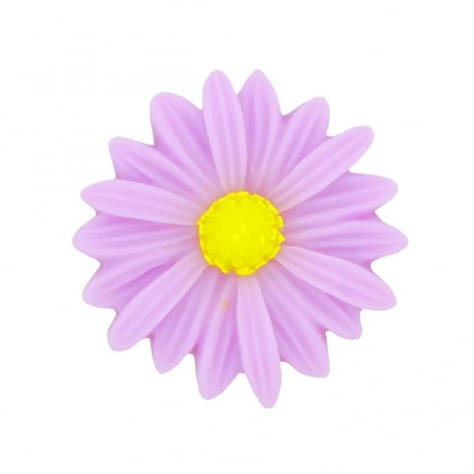 26mm Sunflower Resin Cabochon - Orchid - 5pk