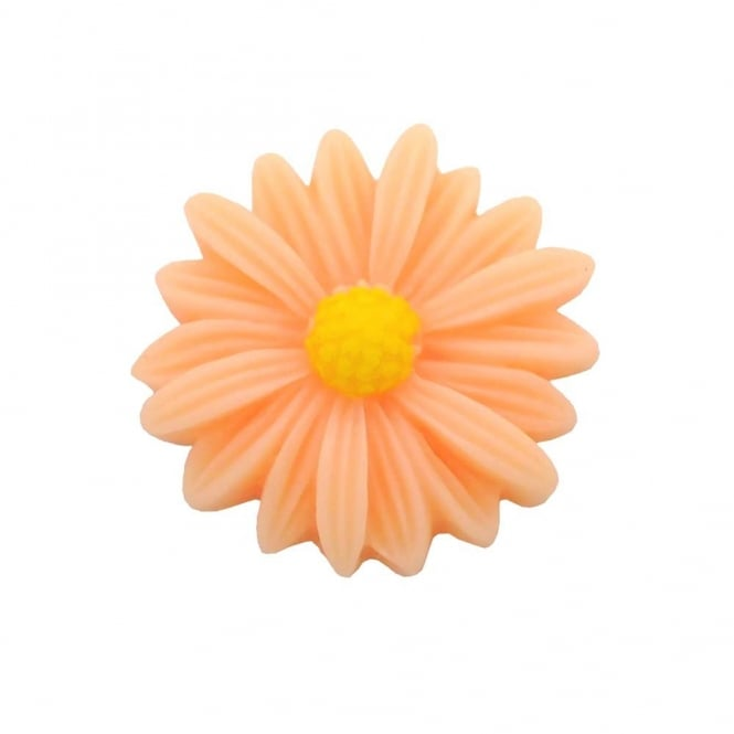 26mm Sunflower Resin Cabochon - Peach - 5pk