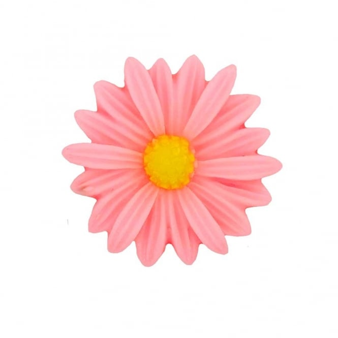 26mm Sunflower Resin Cabochon - Pink - 5pk