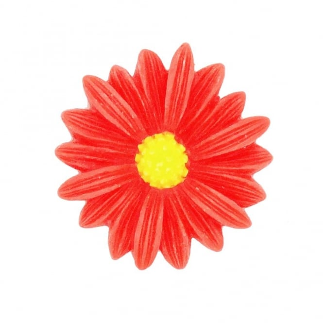 26mm Sunflower Resin Cabochon - Red - 5pk