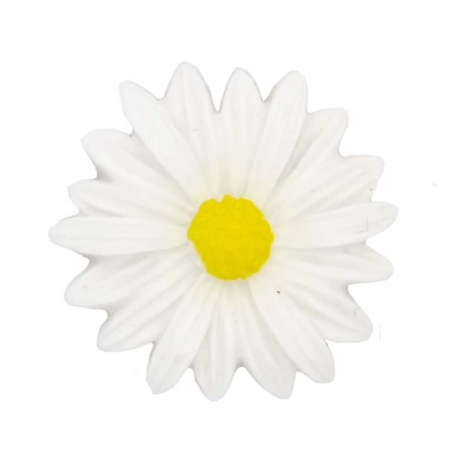 26mm Sunflower Resin Cabochon - White - 5pk