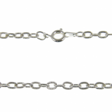 "27"" Patterned Trace Chain Necklace - Silver Plated - 1pk"