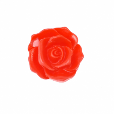 27mm Resin Flat Back Flower - Red