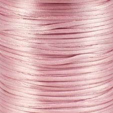 2mm Rattail Satin Cord - Baby Pink - 5m
