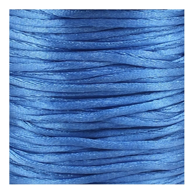 2mm Rattail Satin Cord - Blue - 5m