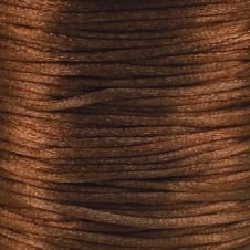 2mm Rattail Satin Cord - Brown - 5m