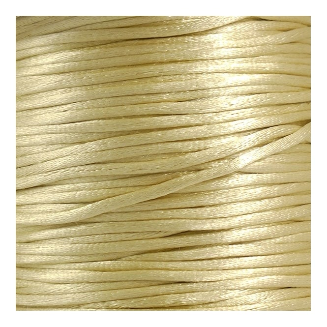 2mm Rattail Satin Cord - Champagne - 5m