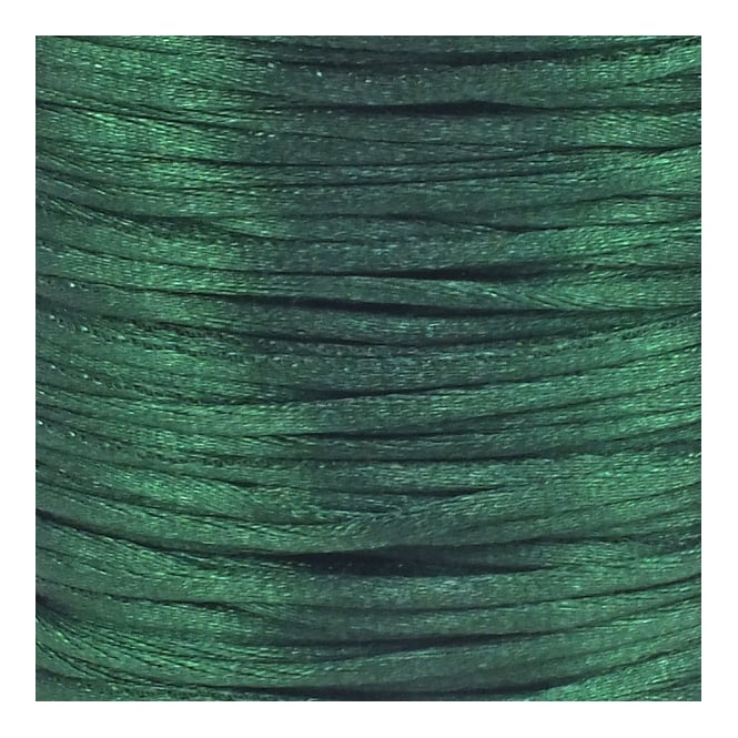2mm Rattail Satin Cord - Hunter Green - 5m
