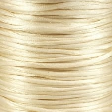 2mm Rattail Satin Cord - Ivory - 5m
