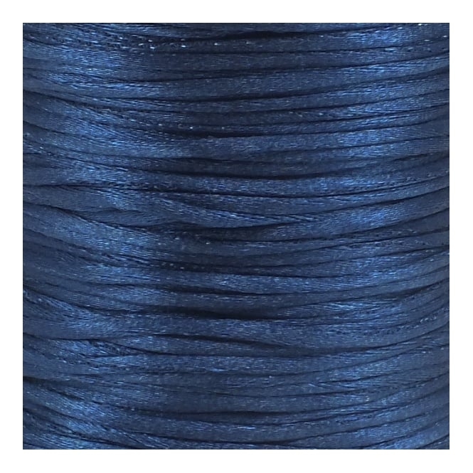2mm Rattail Satin Cord - Navy - 5m