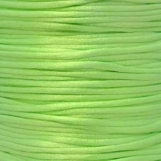 2mm Rattail Satin Cord - Neon Green - 5m