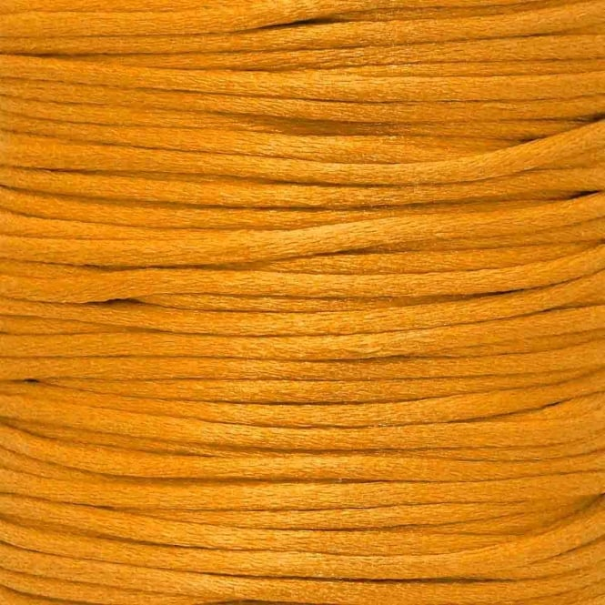 2mm Rattail Satin Cord - Orange - 5m