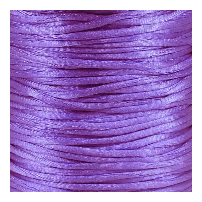 2mm Rattail Satin Cord - Purple - 5m