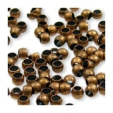 2mm Round Crimp Beads - Antique Copper Plated - 200pk