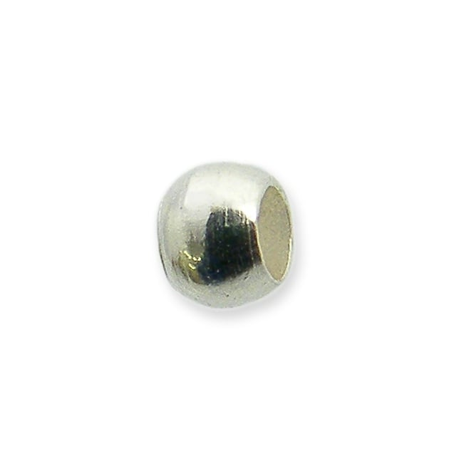 2mm Round Crimp Beads - Silver Plated - 200pk