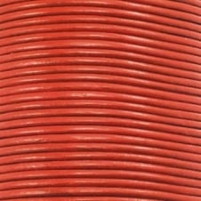 2mm Round Leather Cord - Burnt Orange - 5m