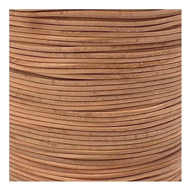 2mm Round Leather Cord - Natural - 5m