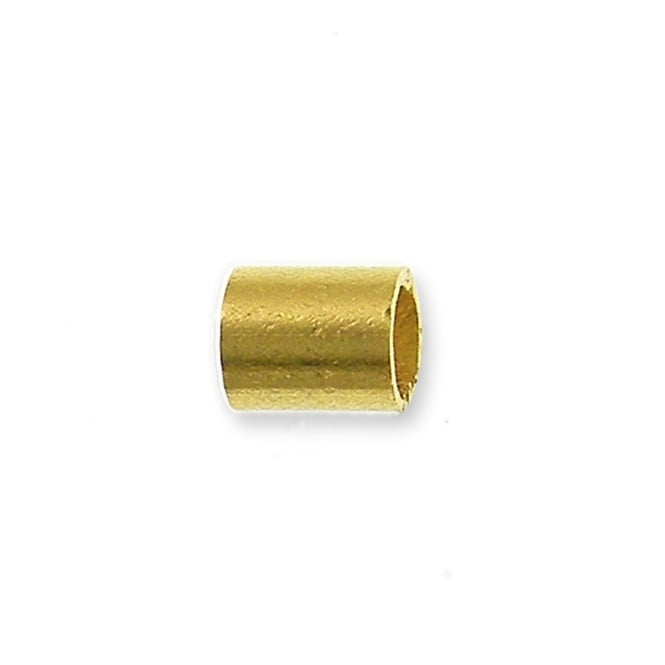 2mm Tube Crimps - Gold Plated - 100pk