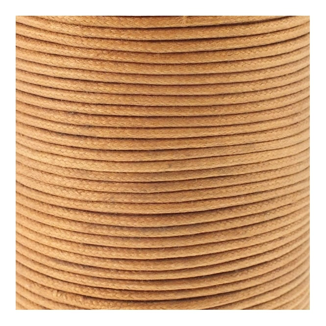 2mm Waxed Cotton Cord - Camel - 5m