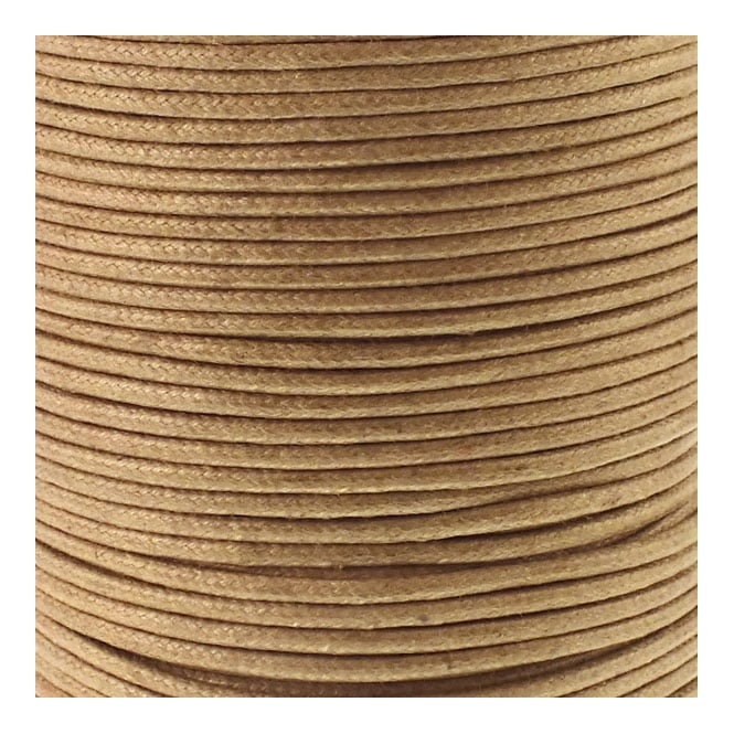 2mm Waxed Cotton Cord - French Mustard - 5m