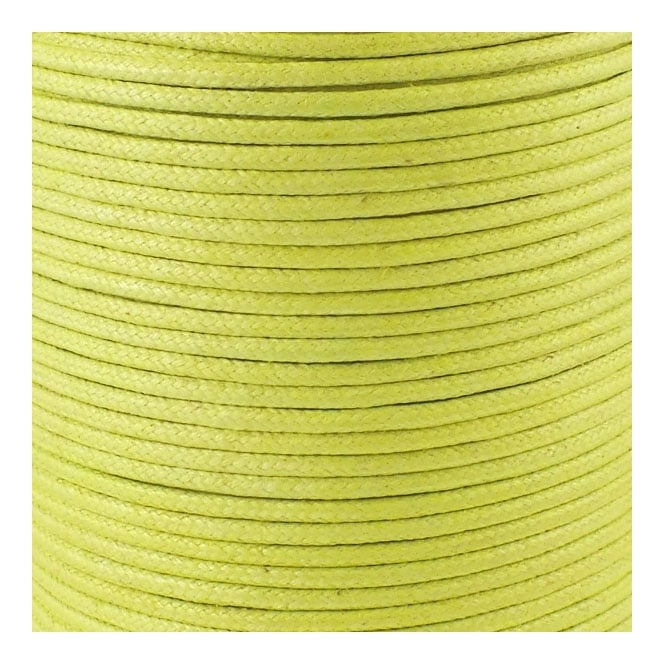 2mm Waxed Cotton Cord - Lime - 5m
